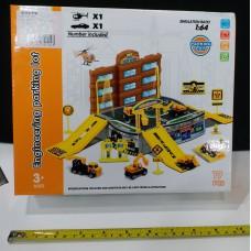 Toyslido 工程車小型停車場套裝 特價陳列樣辦玩具 (3歲以上適用)