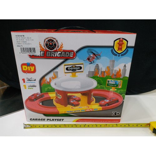 Toyslido 消防車小型賽道套裝 (一層) 特價陳列樣辦玩具 (3歲以上適用)