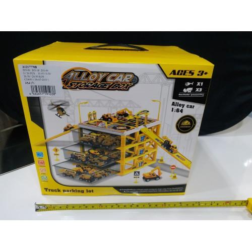 Toyslido 工程車中型停車場套裝 (三層) 特價陳列樣辦玩具 (3歲以上適用)