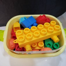 Toyslido 大塊 軟膠圓角積木 - 40塊 (青蛙款) (10個月以上適用)