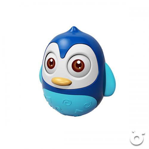 企鵝不倒翁發聲玩具      (藍色)