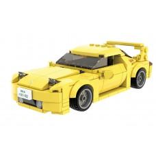 (現貨) Toyslido 頭文字D 高橋啟介 1:24 萬事得Mazda-FD3S RX-7 積木模型車  益智兒童玩具 - 278塊 (8歲以上適用)