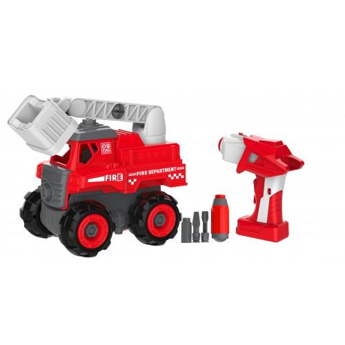 組裝 及 電動 消防車 兒童玩具套裝 (3歲以上適用)