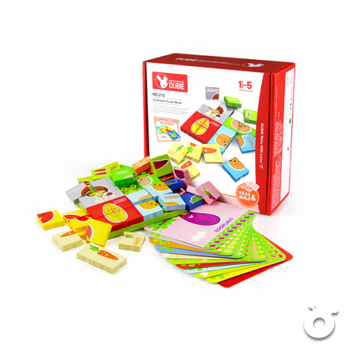 Vegetable Puzzle and English Vocabulary Learning Card