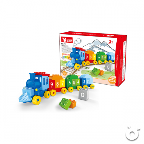 Train Block (31pcs) with learning card