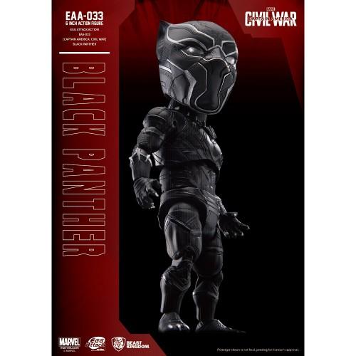 Beast Kingdom- Captain America: Civil War Egg Attack Action: Black Panther Figure