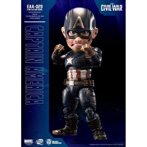 Beast Kingdom- Captain America: Civil War Egg Attack Action: Captain America Figure