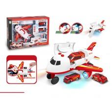 Toyslido 二合一變形飛機 + 消防車 兒童玩具套裝 (3歲以上適用)