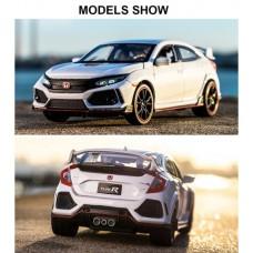 Toyslido - 本田思域 (Civic) Type-R 1:32 合金汽車模型 - 白色|Diecast cars 系列 (有燈光及音效, 可開車門)