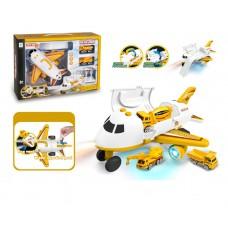 二合一變形飛機 + 工程車 兒童玩具套裝 (3歲以上適用)