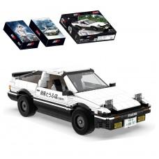(現貨) Toyslido 頭文字D 藤原拓海 Toyota AE86 Trueno (經典豆腐車) 積木模型車  益智兒童玩具 - 1324塊 (8歲以上適用)