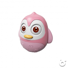 企鵝不倒翁發聲玩具   (粉紅色)